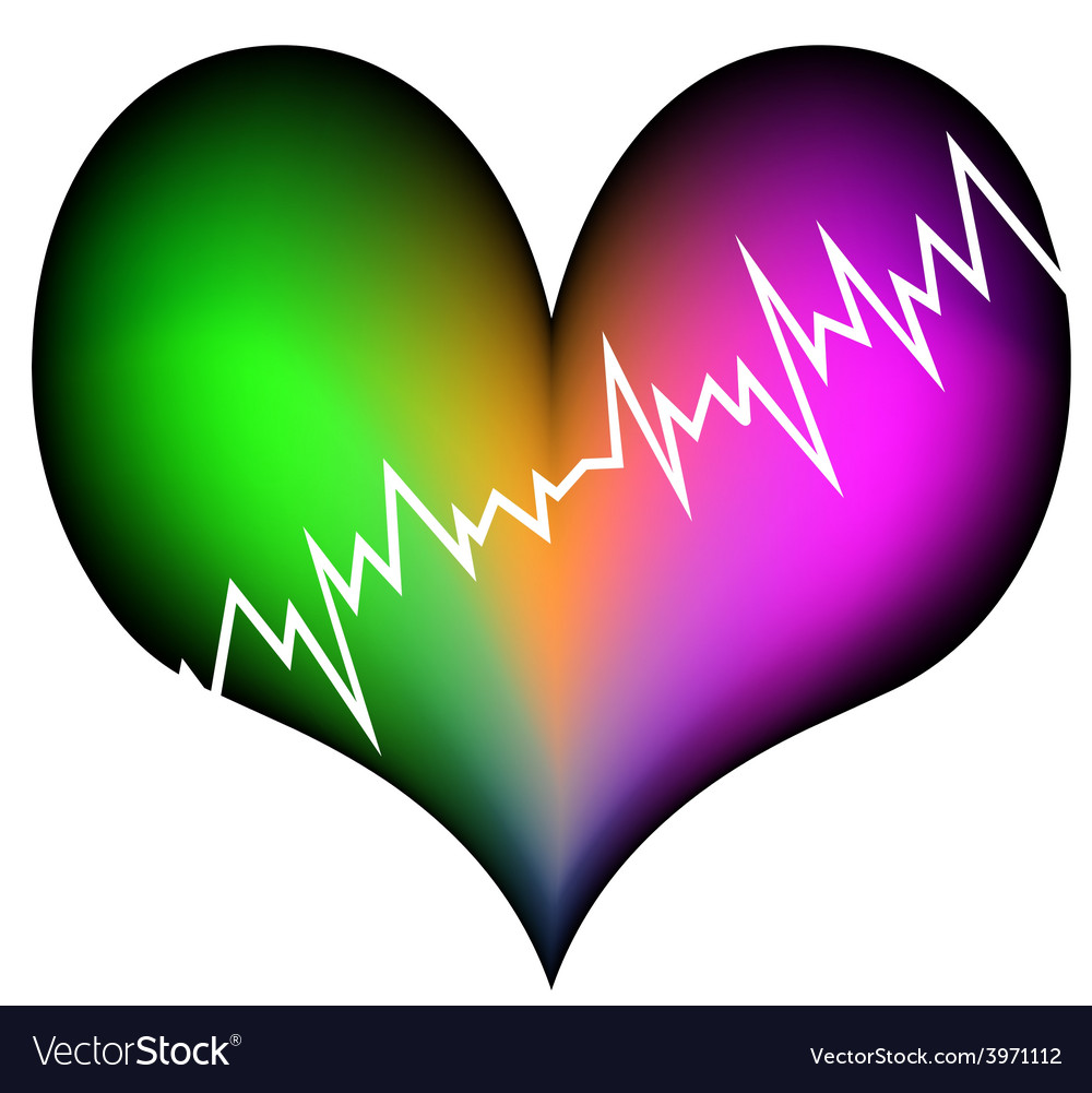 Colorful heart attack vector | Price: 1 Credit (USD $1)
