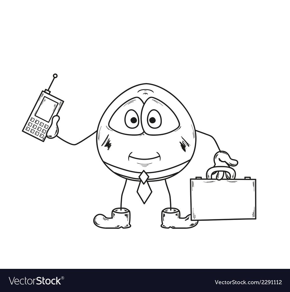 Emoticon businessman sketch vector | Price: 1 Credit (USD $1)