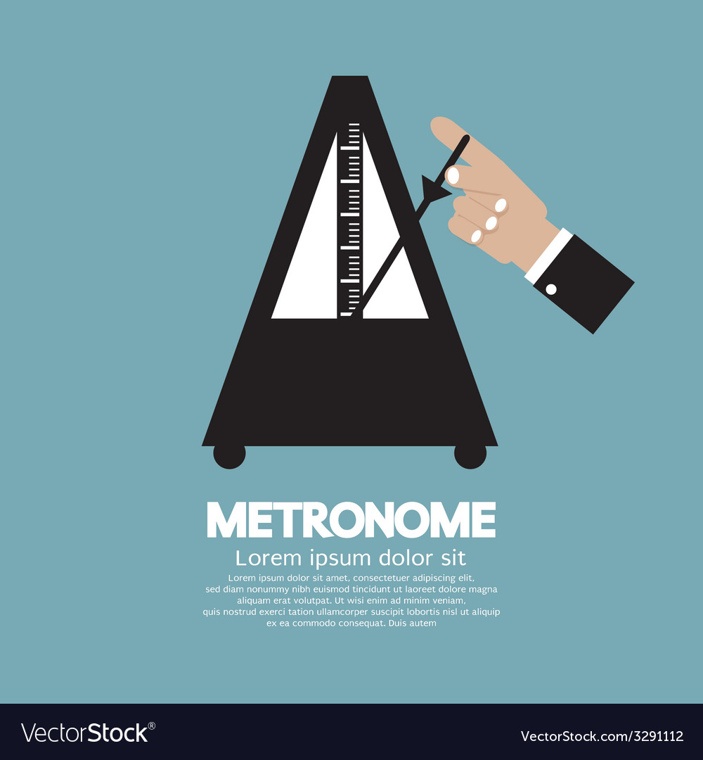 Metronome for music practicing vector | Price: 1 Credit (USD $1)