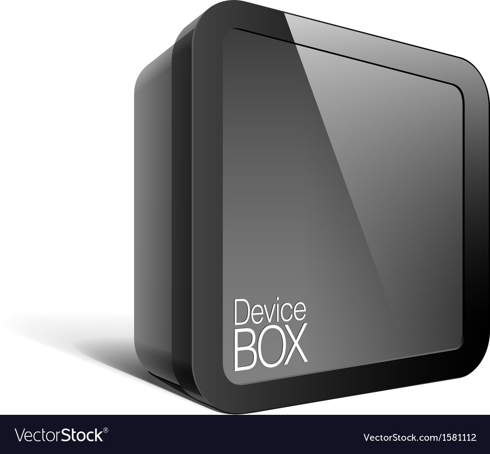 Realistic black package box square shape with a vector | Price: 1 Credit (USD $1)