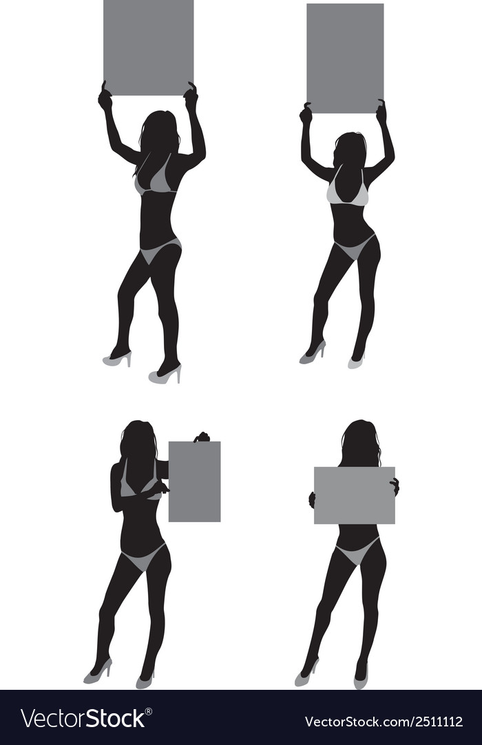 Ring girls silhouette vector | Price: 1 Credit (USD $1)