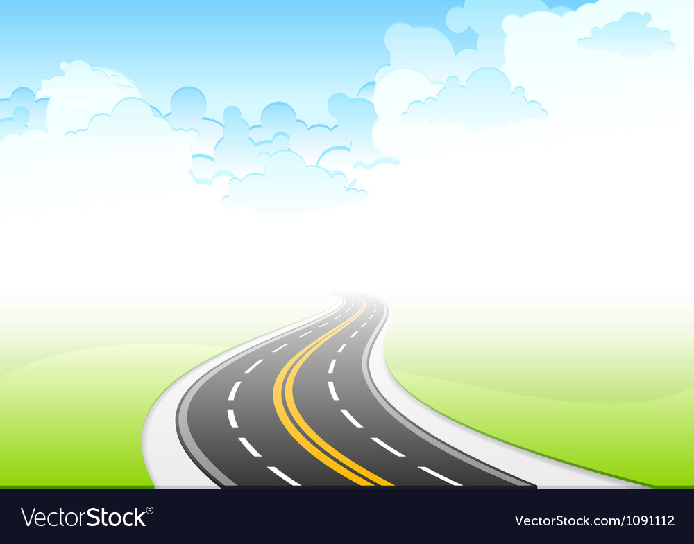 Road sky vector | Price: 1 Credit (USD $1)