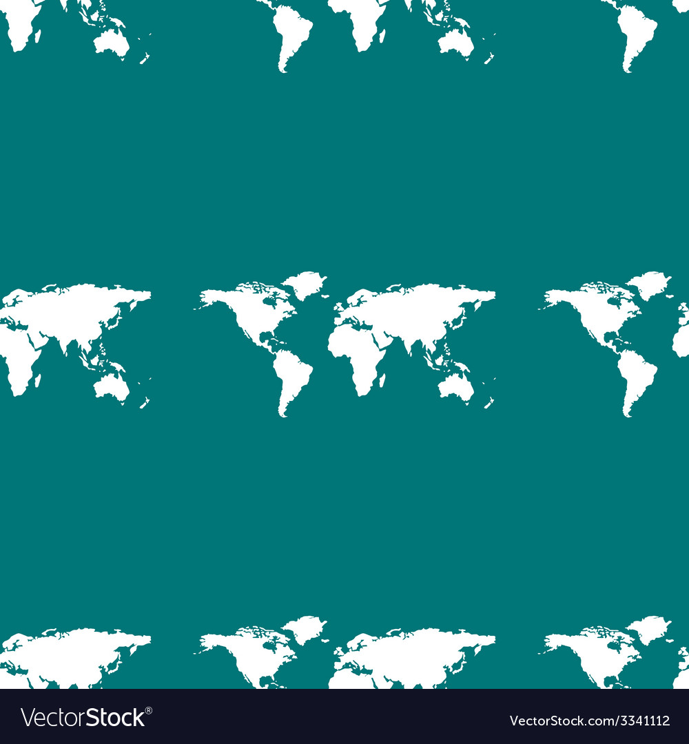 World map web icon flat design seamless gray vector | Price: 1 Credit (USD $1)