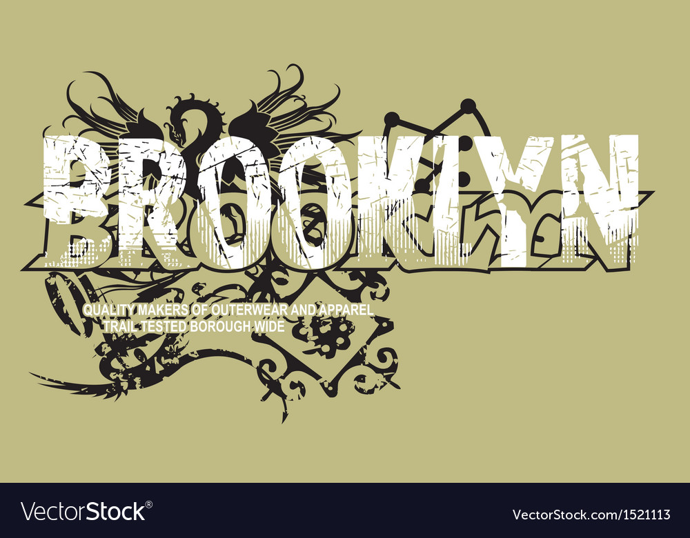 Art design with models brooklyn vector | Price: 1 Credit (USD $1)