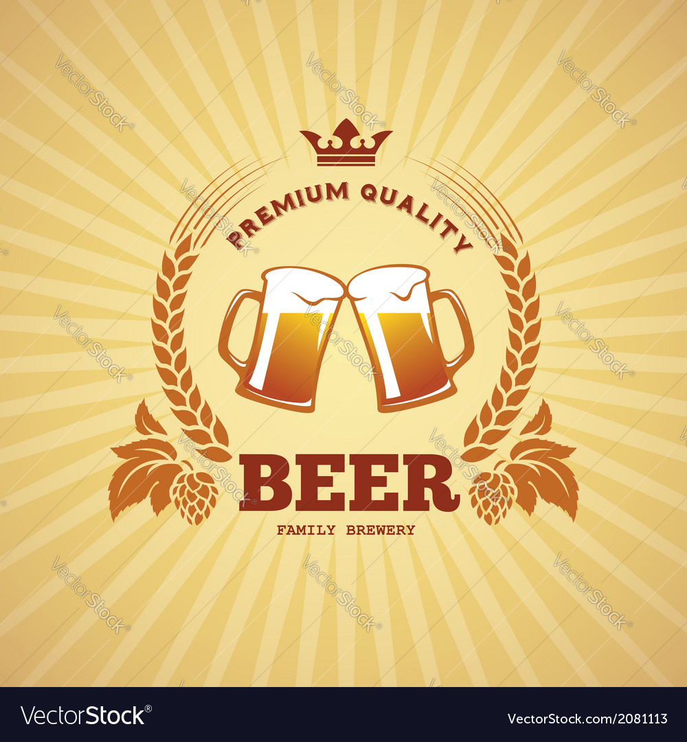 Beer banner vector | Price: 1 Credit (USD $1)