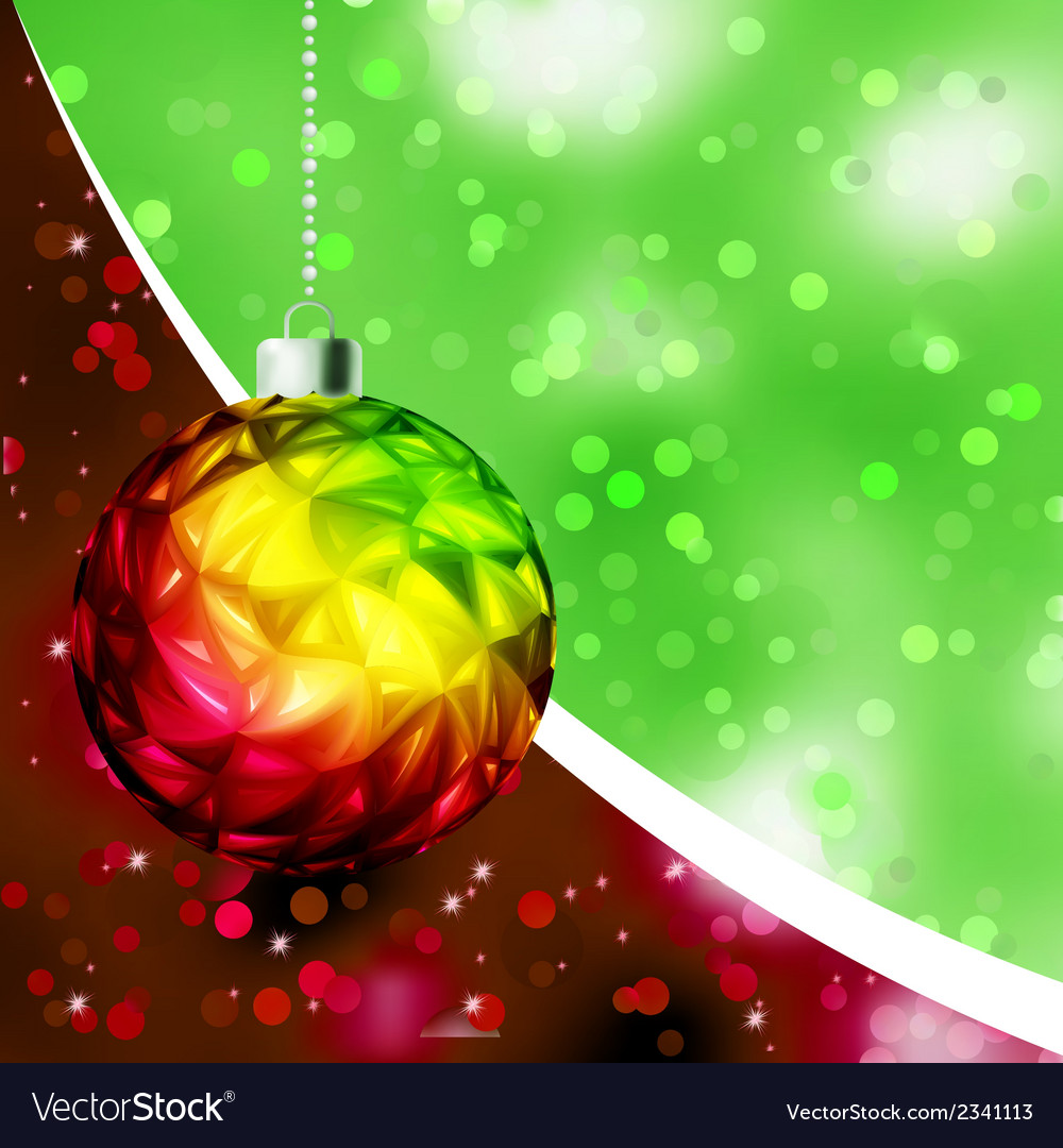 Colorful christmas ball card template eps 8 vector | Price: 1 Credit (USD $1)
