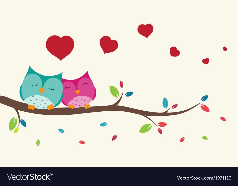 Couple of birds in love vector | Price: 1 Credit (USD $1)