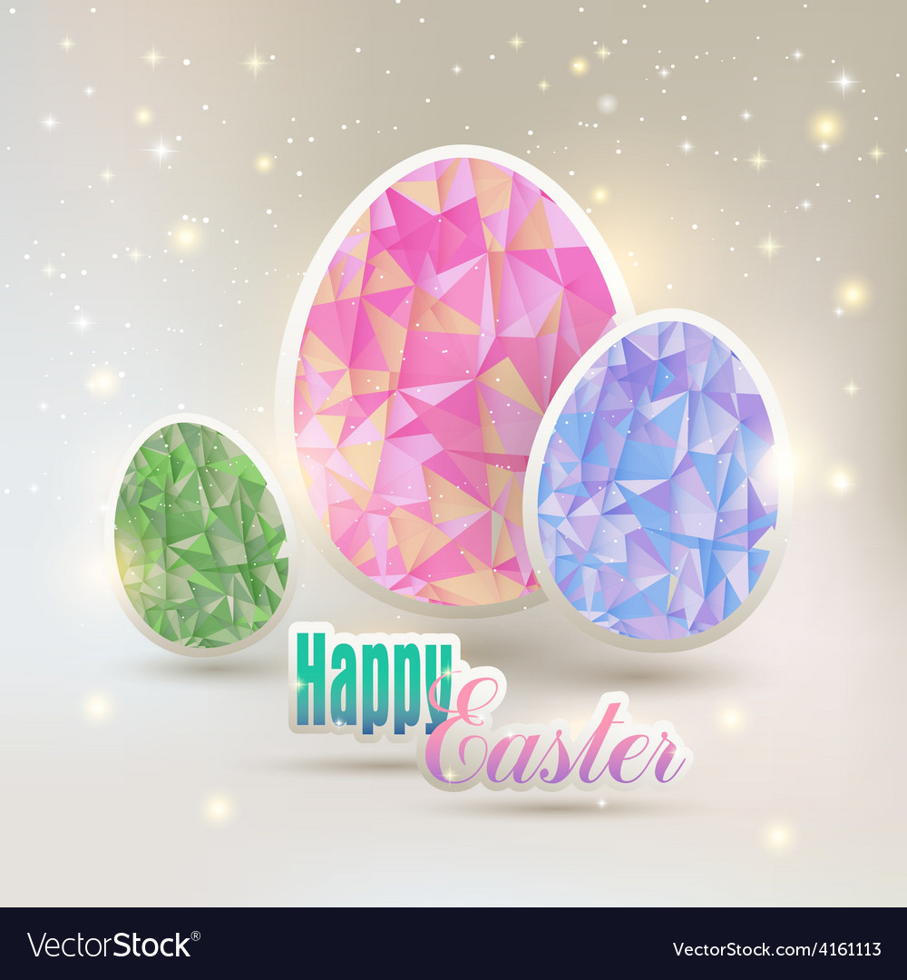 Easter eggs with geometric elements vector | Price: 1 Credit (USD $1)