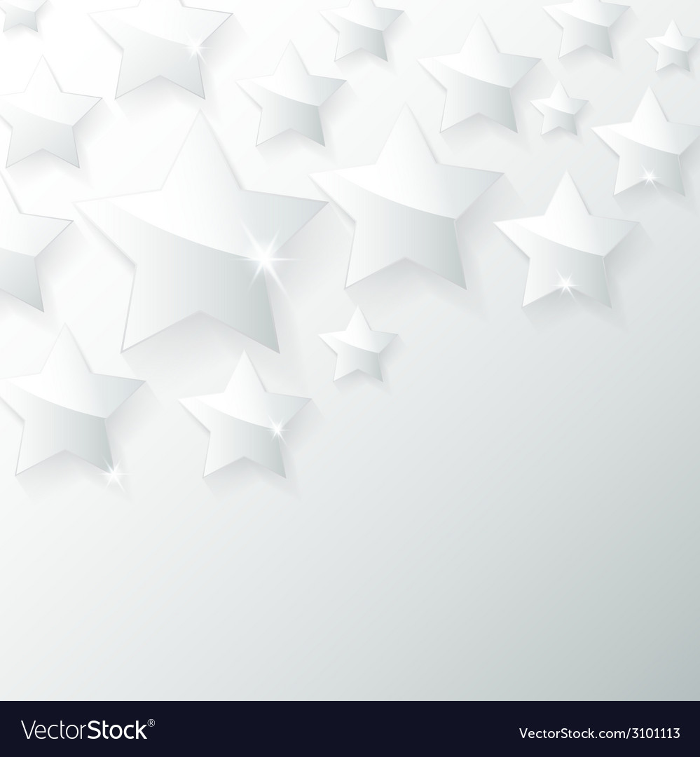 Glass star with shadow in gray background vector | Price: 1 Credit (USD $1)