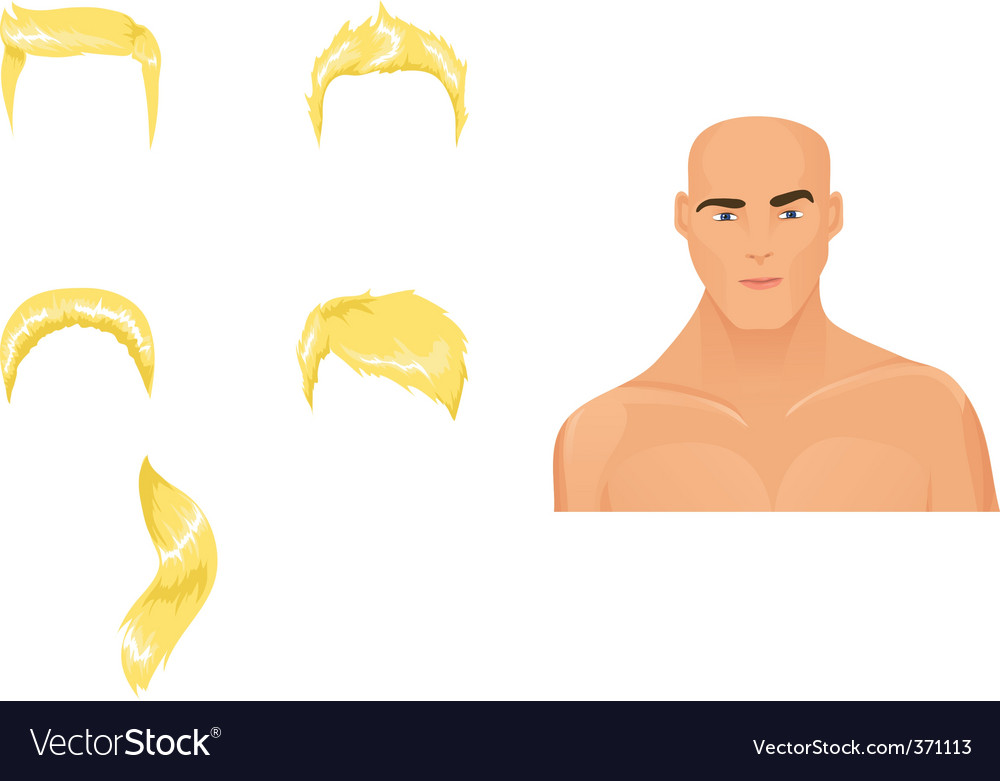 Male hairstyles blond vector | Price: 1 Credit (USD $1)