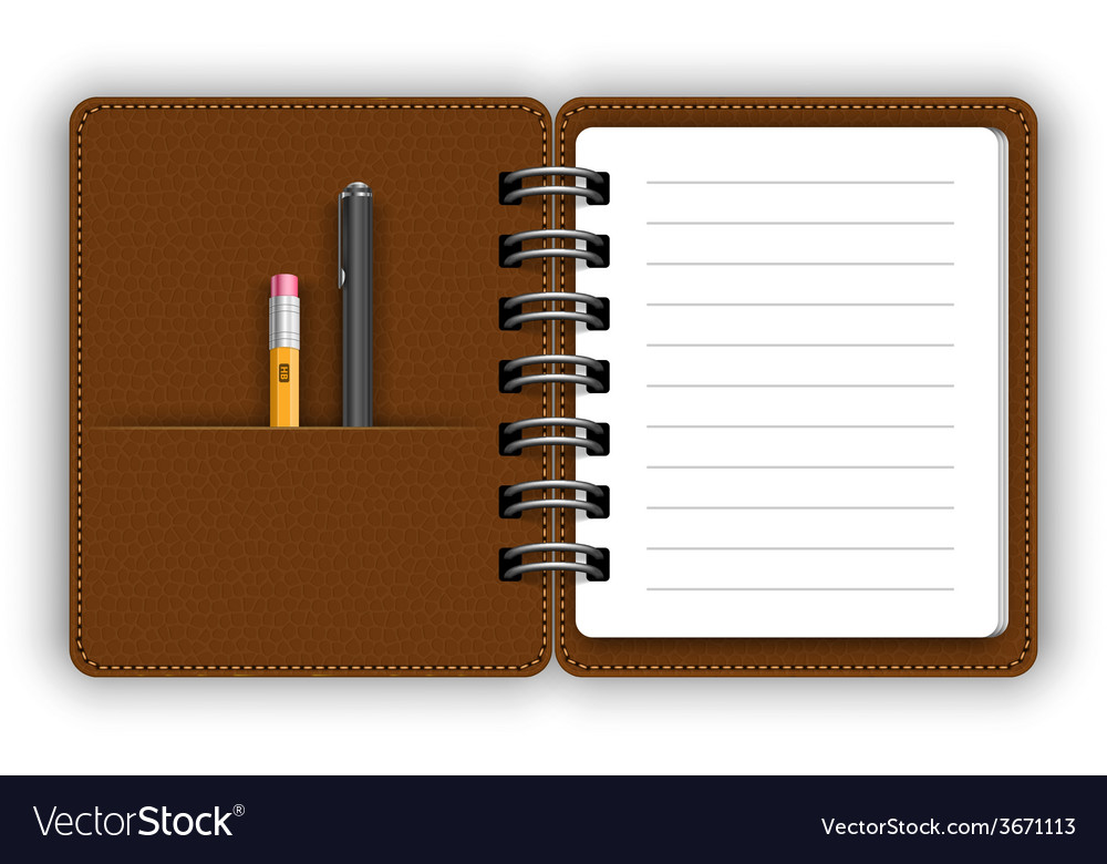 Open notepad vector | Price: 1 Credit (USD $1)