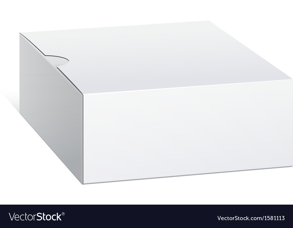 Realistic package cardboard box square shape vector | Price: 1 Credit (USD $1)