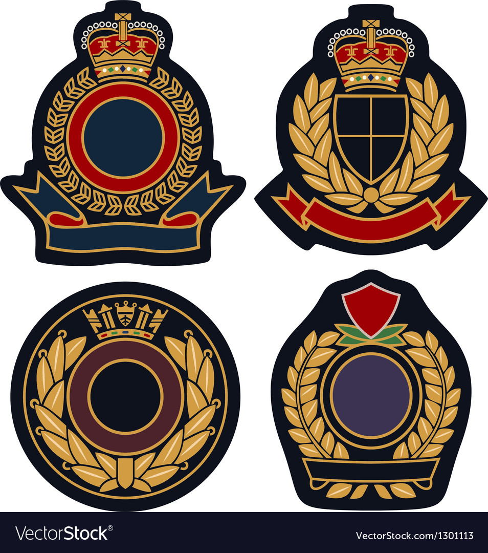 Royal emblem badge shield vector | Price: 1 Credit (USD $1)