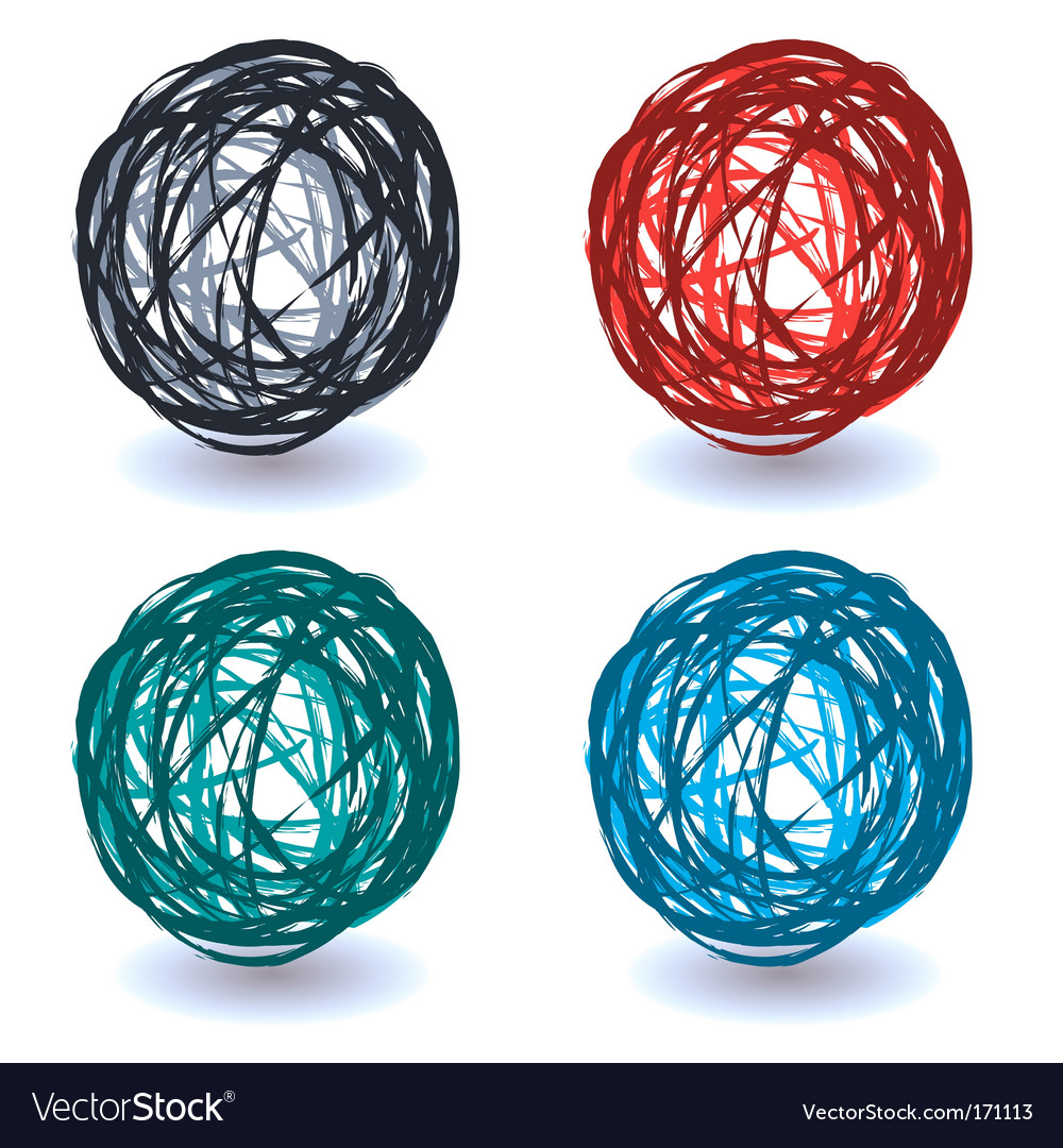 Scribble abstract ball vector | Price: 1 Credit (USD $1)