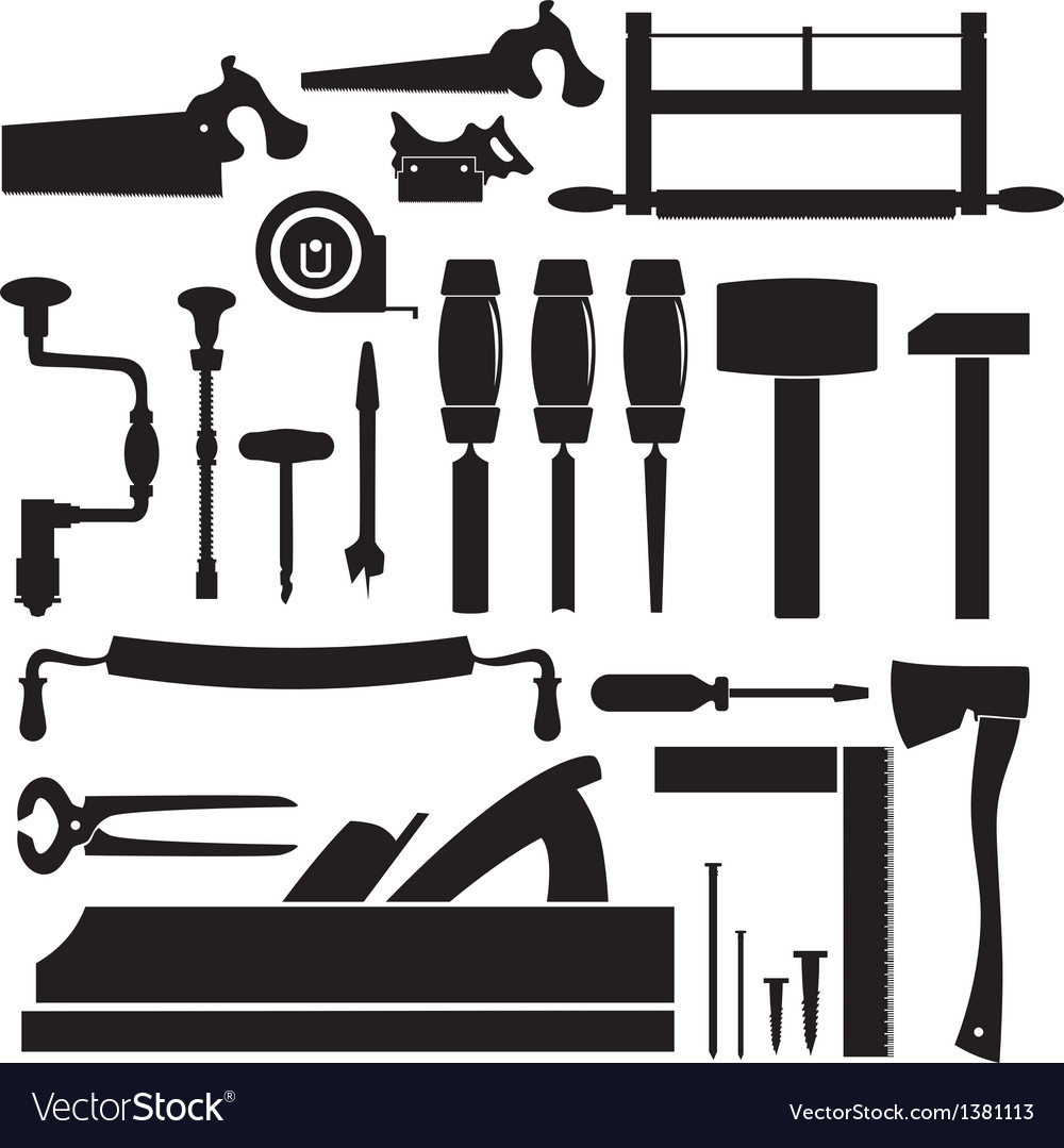 Tools carpenter set vector | Price: 1 Credit (USD $1)