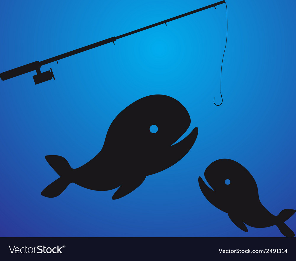 Fishing - two fish eps10 vector   Price: 1 Credit (USD $1)