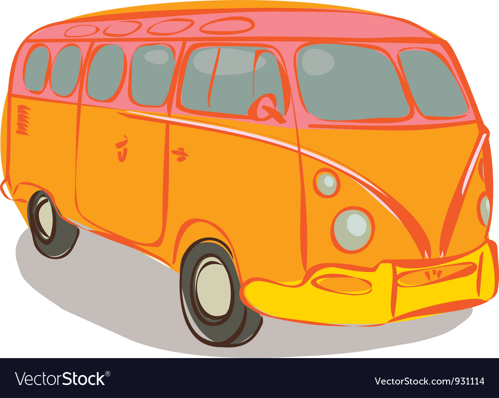 Hippie van vector | Price: 3 Credit (USD $3)