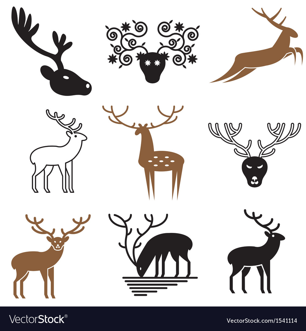 Logo icons deer vector | Price: 3 Credit (USD $3)