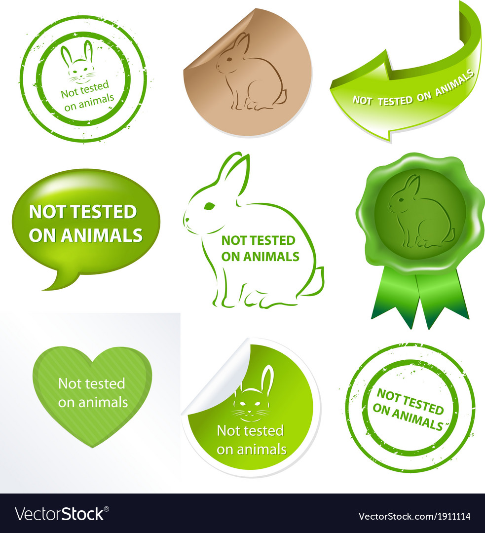 Set against testing for animals vector | Price: 1 Credit (USD $1)