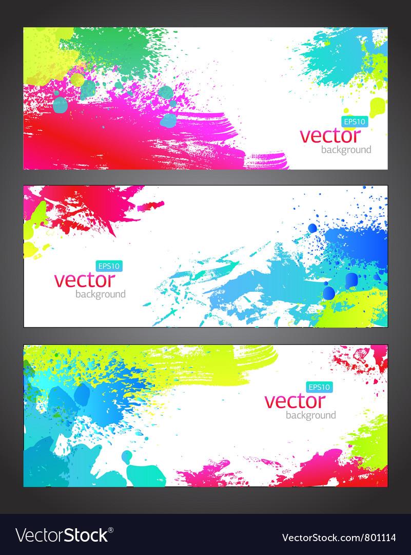 Splash banners vector | Price: 1 Credit (USD $1)