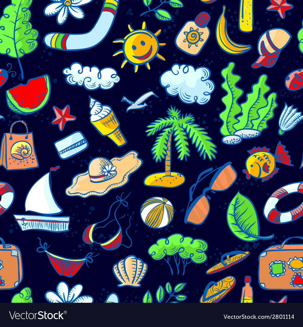 Summer seamless vector | Price: 1 Credit (USD $1)