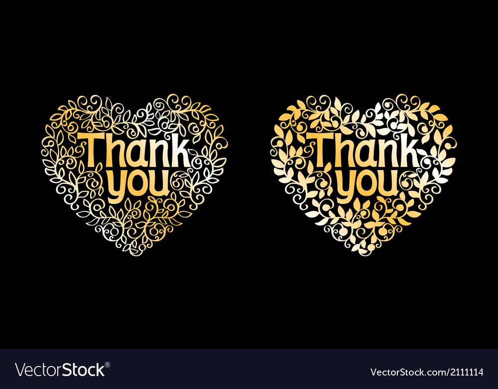 Thank you golden label vector | Price: 1 Credit (USD $1)