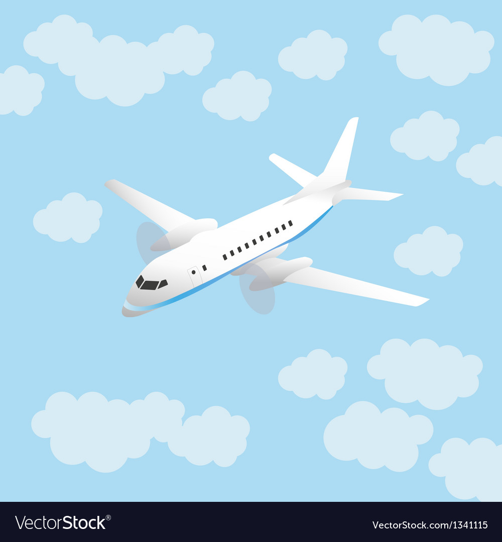 Aircraft and sky vector | Price: 1 Credit (USD $1)