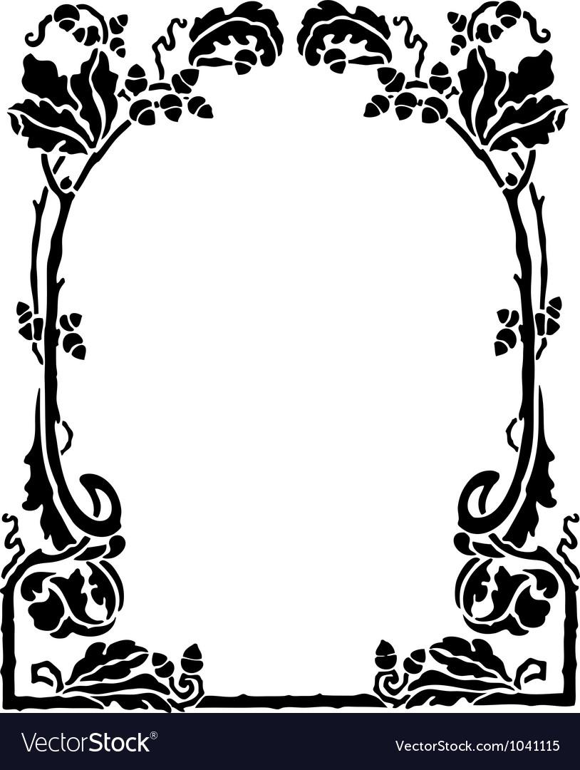 Art nouveau frame vector   Price: 1 Credit (USD $1)