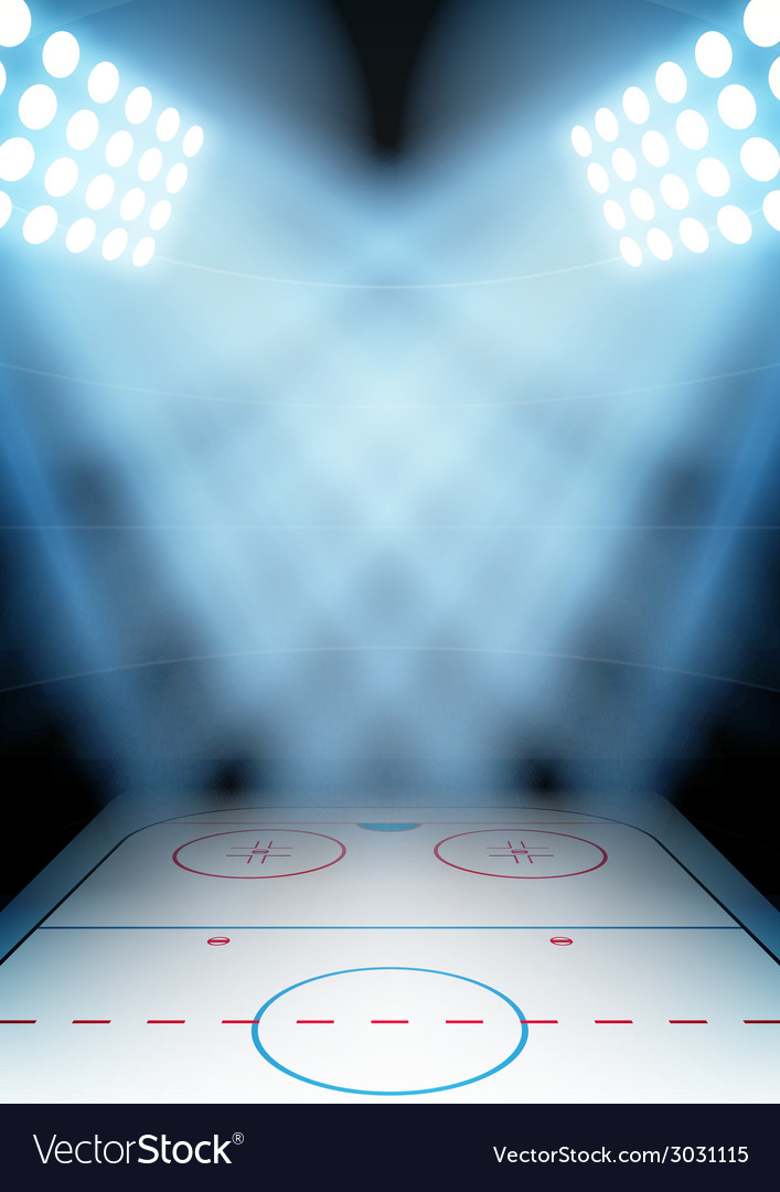 Background for posters night ice hockey stadium in vector | Price: 1 Credit (USD $1)