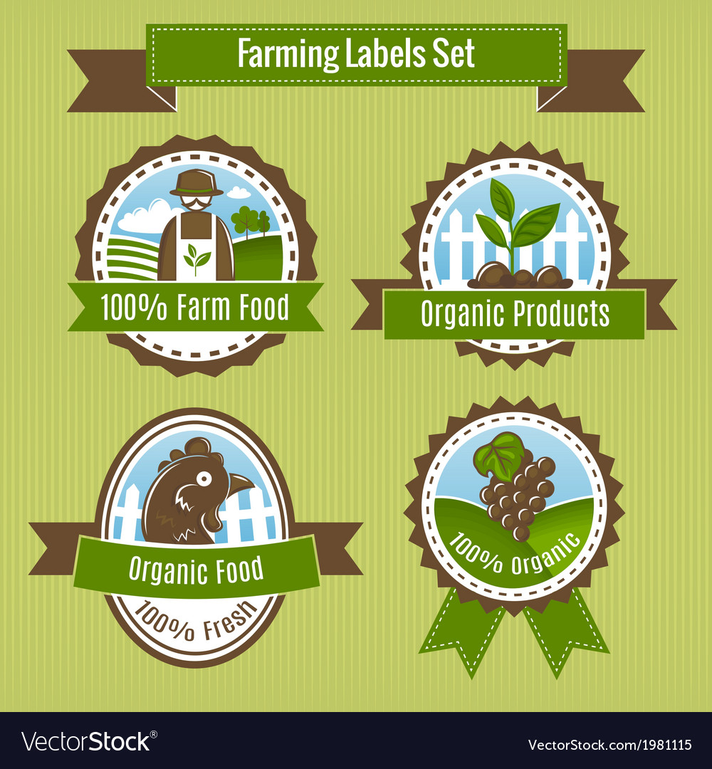 Farming harvesting and agriculture badges or vector | Price: 1 Credit (USD $1)