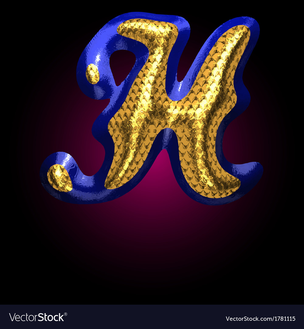 Golden and blue letter h vector | Price: 1 Credit (USD $1)