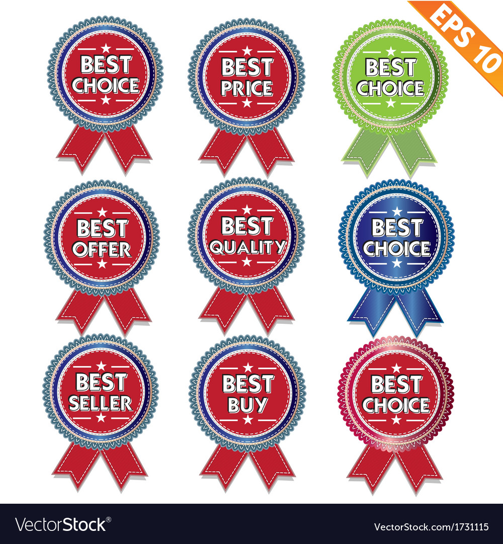 Label stitch best tag - - eps10 vector | Price: 1 Credit (USD $1)