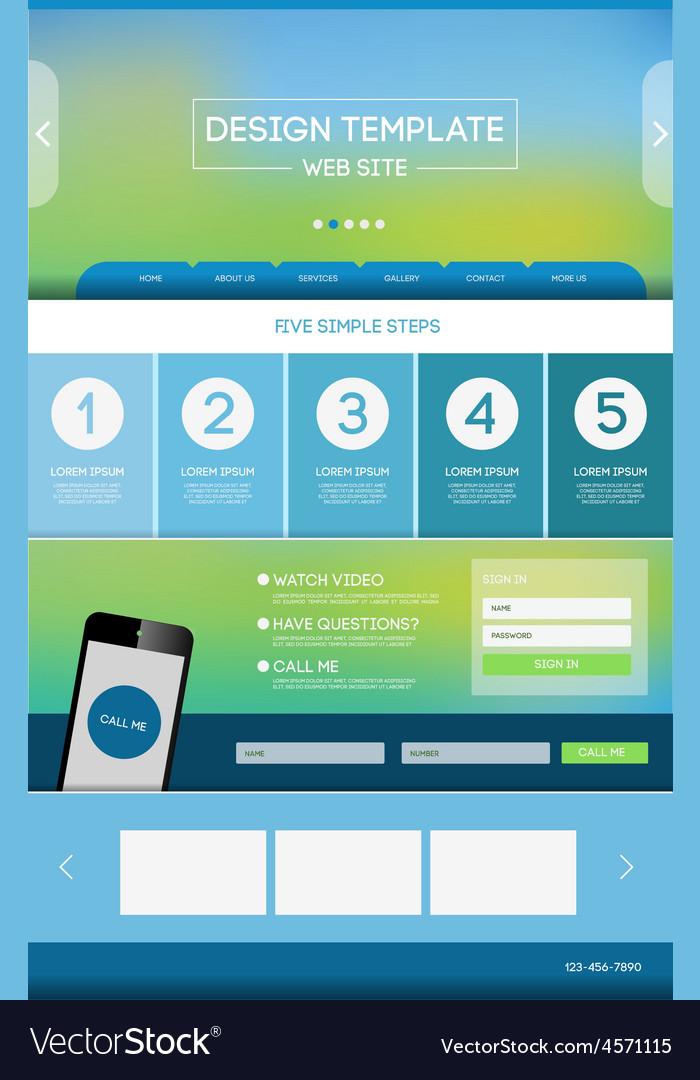 Landing page web vector | Price: 1 Credit (USD $1)
