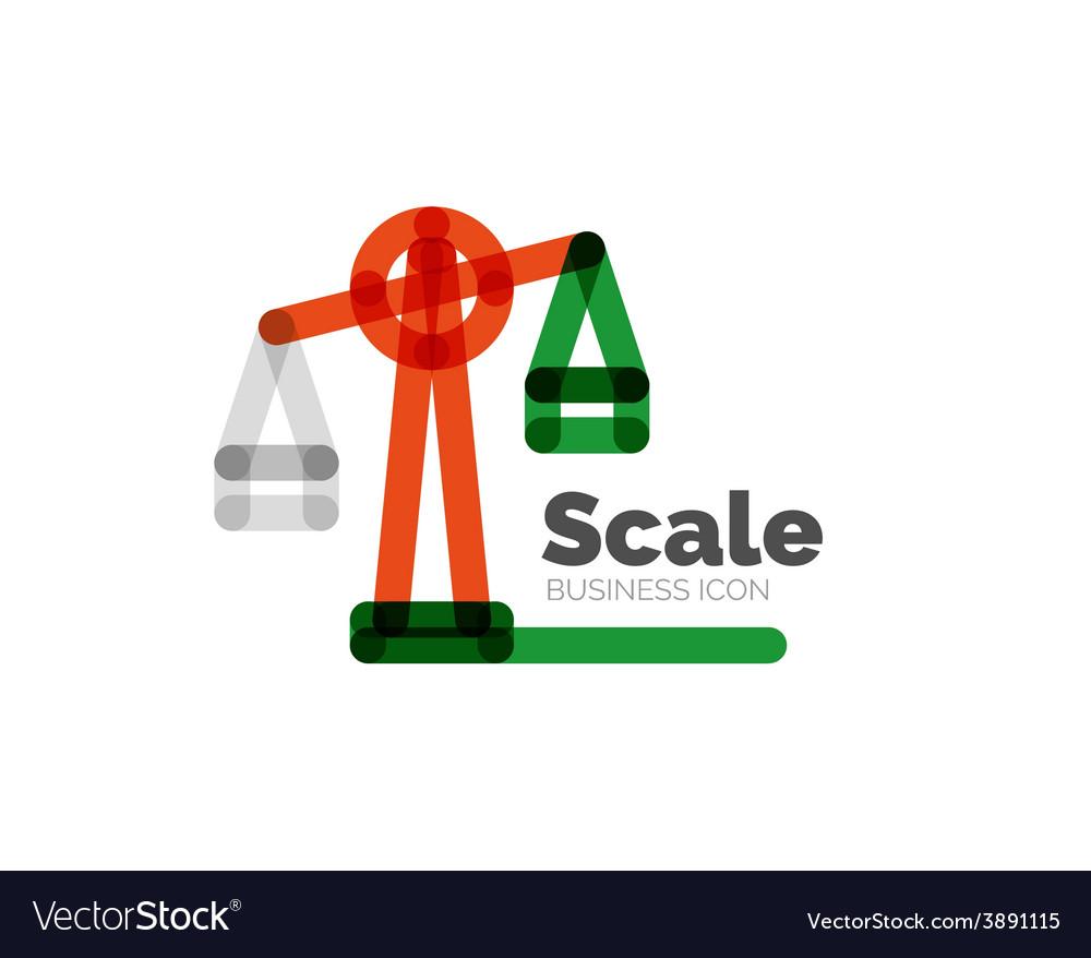 Line minimal design logo scale vector   Price: 1 Credit (USD $1)