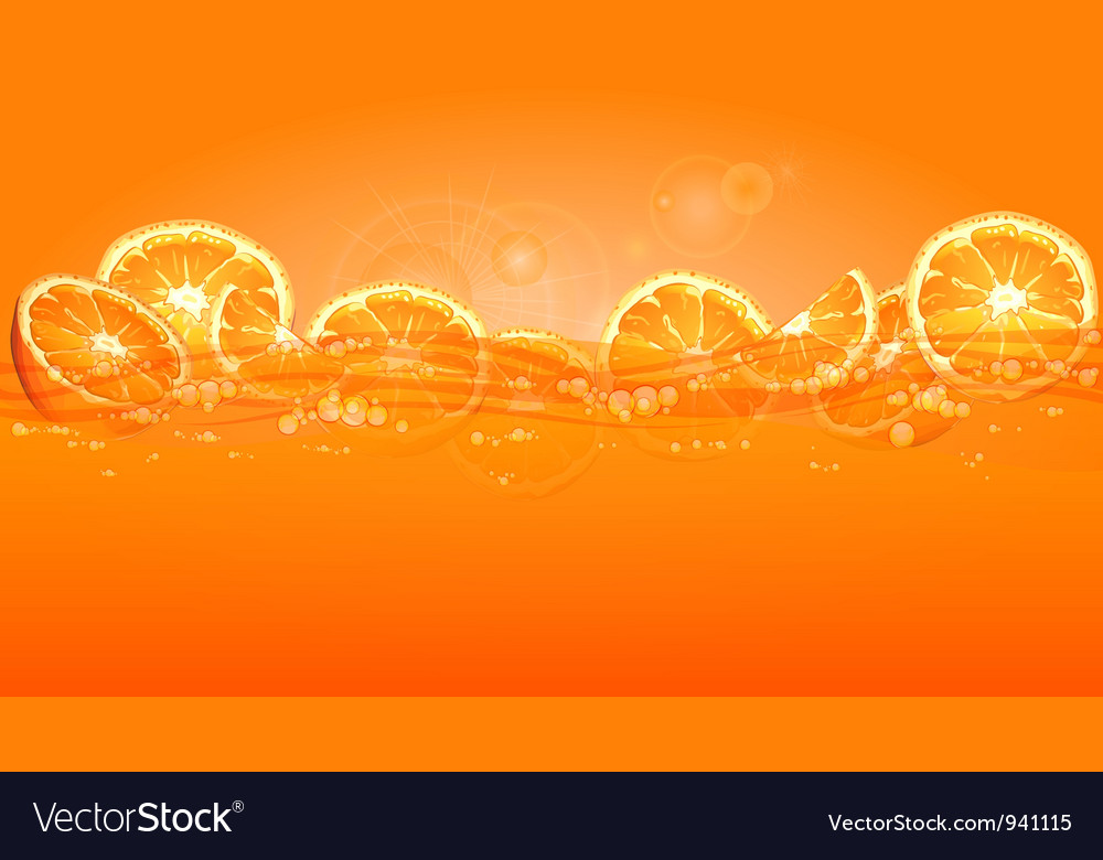 Orange juice splash color background 10 v vector | Price: 1 Credit (USD $1)