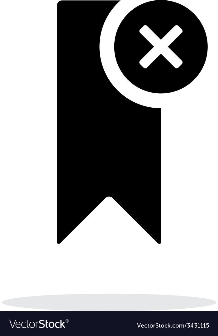 Remove bookmark simple icon on white background vector | Price: 1 Credit (USD $1)
