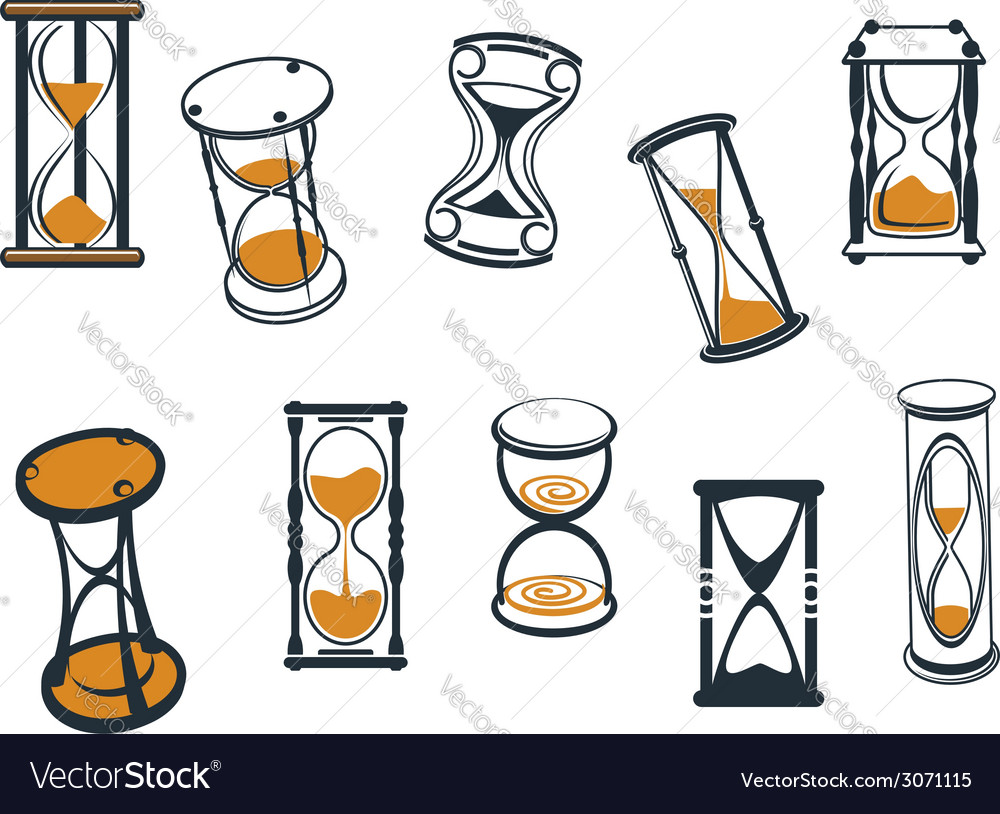 Set of hourglasses or egg timers vector | Price: 1 Credit (USD $1)