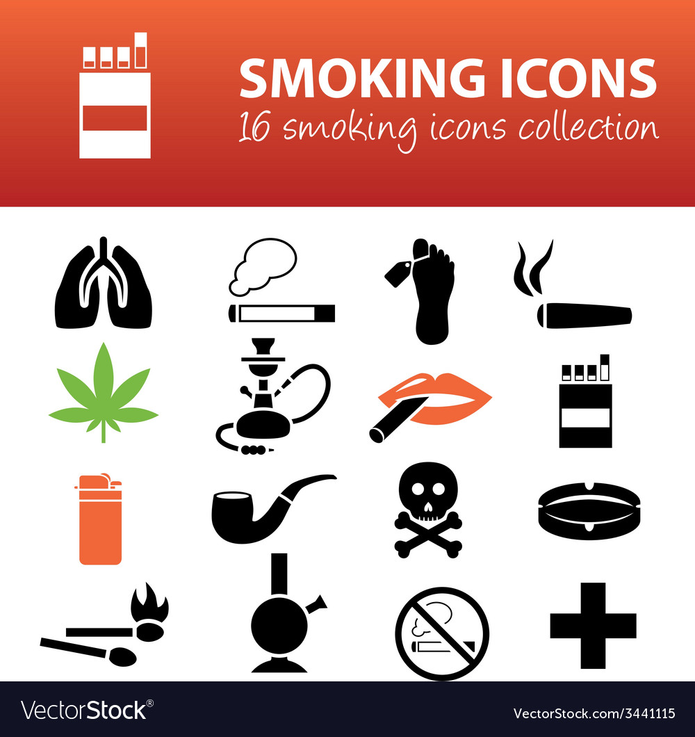 Smoking icons vector | Price: 1 Credit (USD $1)
