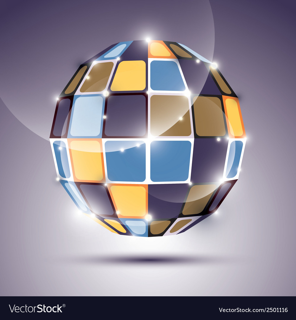 3d glossy mirror ball created from geometric vector | Price: 1 Credit (USD $1)