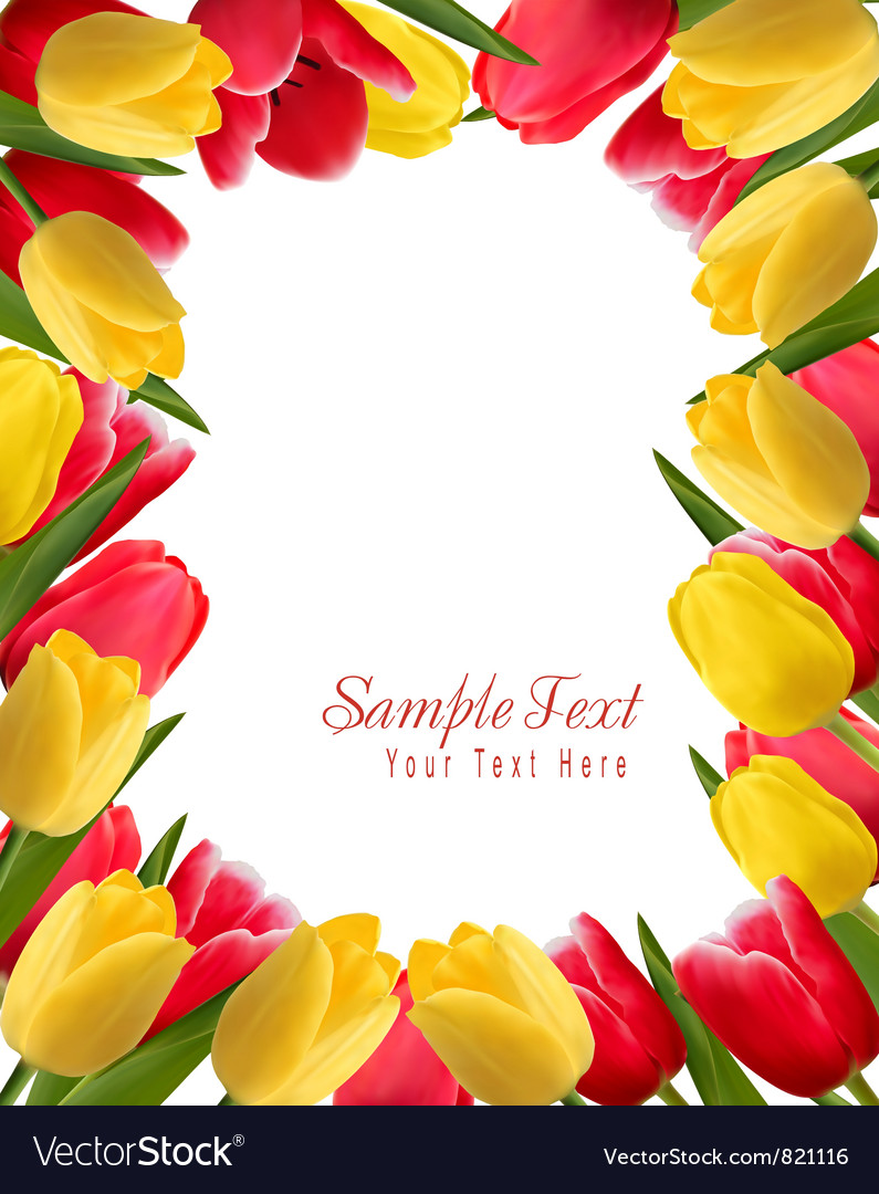 Colorful spring flower background vector   Price: 1 Credit (USD $1)