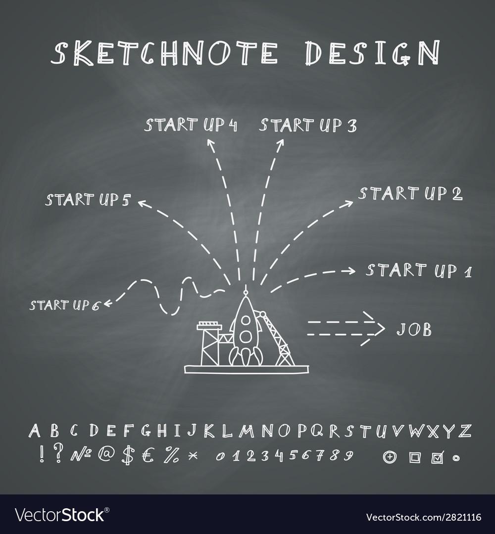 Doodle start up design vector | Price: 1 Credit (USD $1)