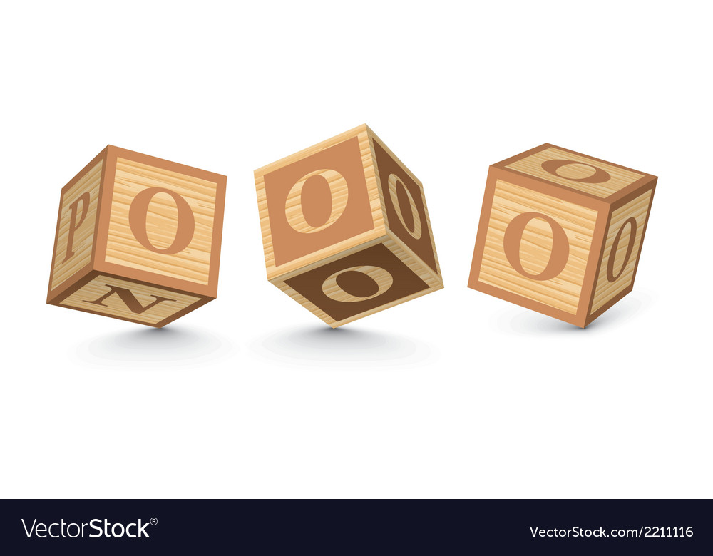Letter o wooden alphabet blocks vector | Price: 1 Credit (USD $1)