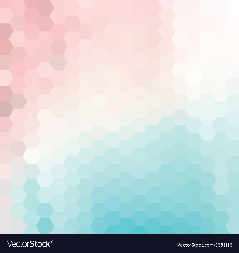 Pink and blue hexagonal grid vector | Price: 1 Credit (USD $1)