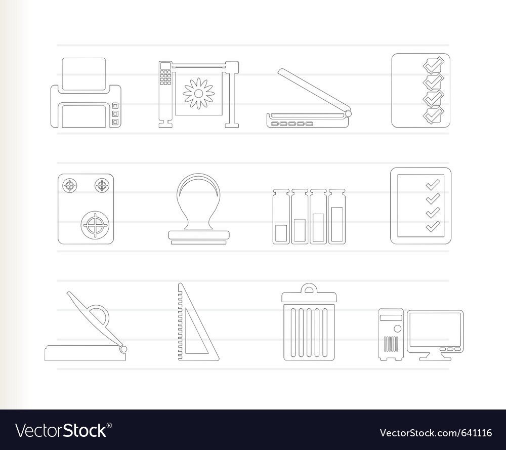 Print industry icons vector | Price: 1 Credit (USD $1)