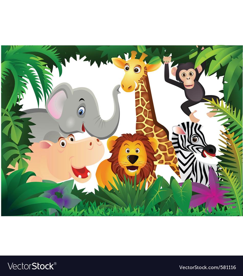 Safari animal cartoon vector | Price: 3 Credit (USD $3)