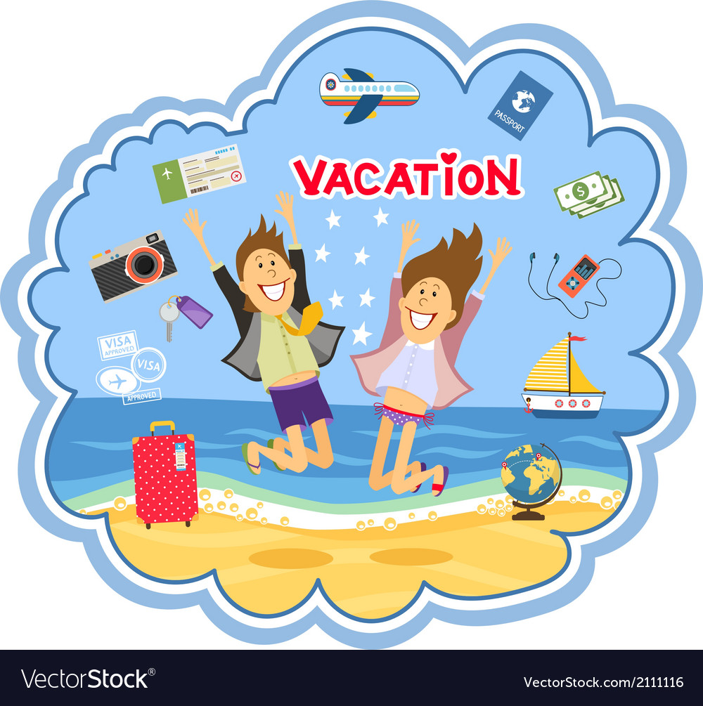 Vacation at the seaside vector | Price: 1 Credit (USD $1)