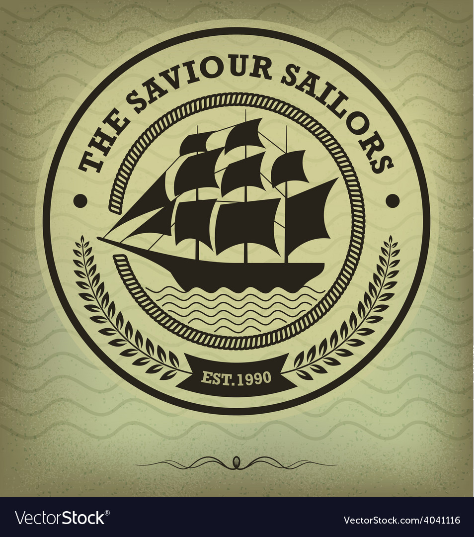 Vintage sailboat vector | Price: 1 Credit (USD $1)