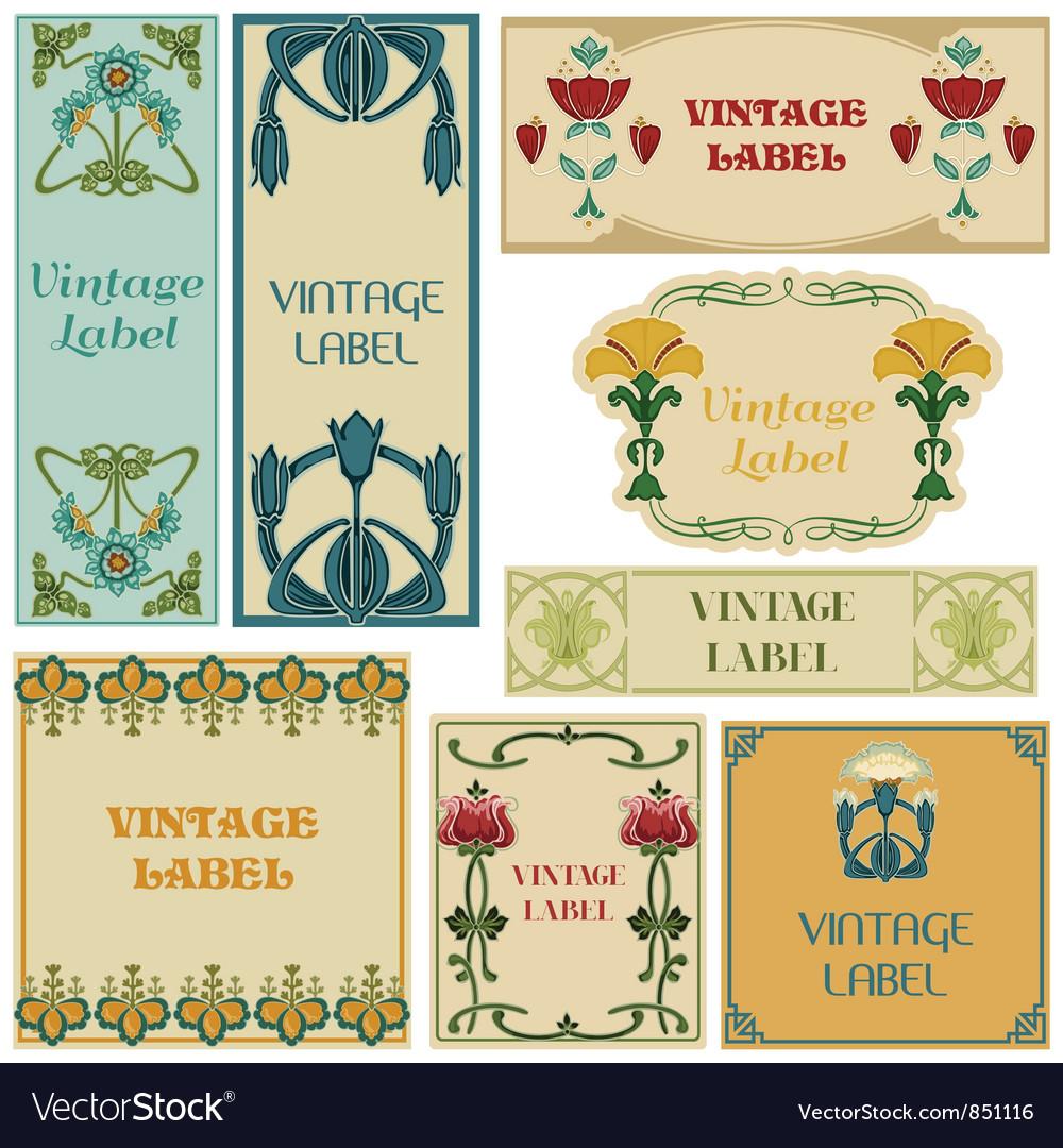 Vintage style labels set vector | Price: 1 Credit (USD $1)
