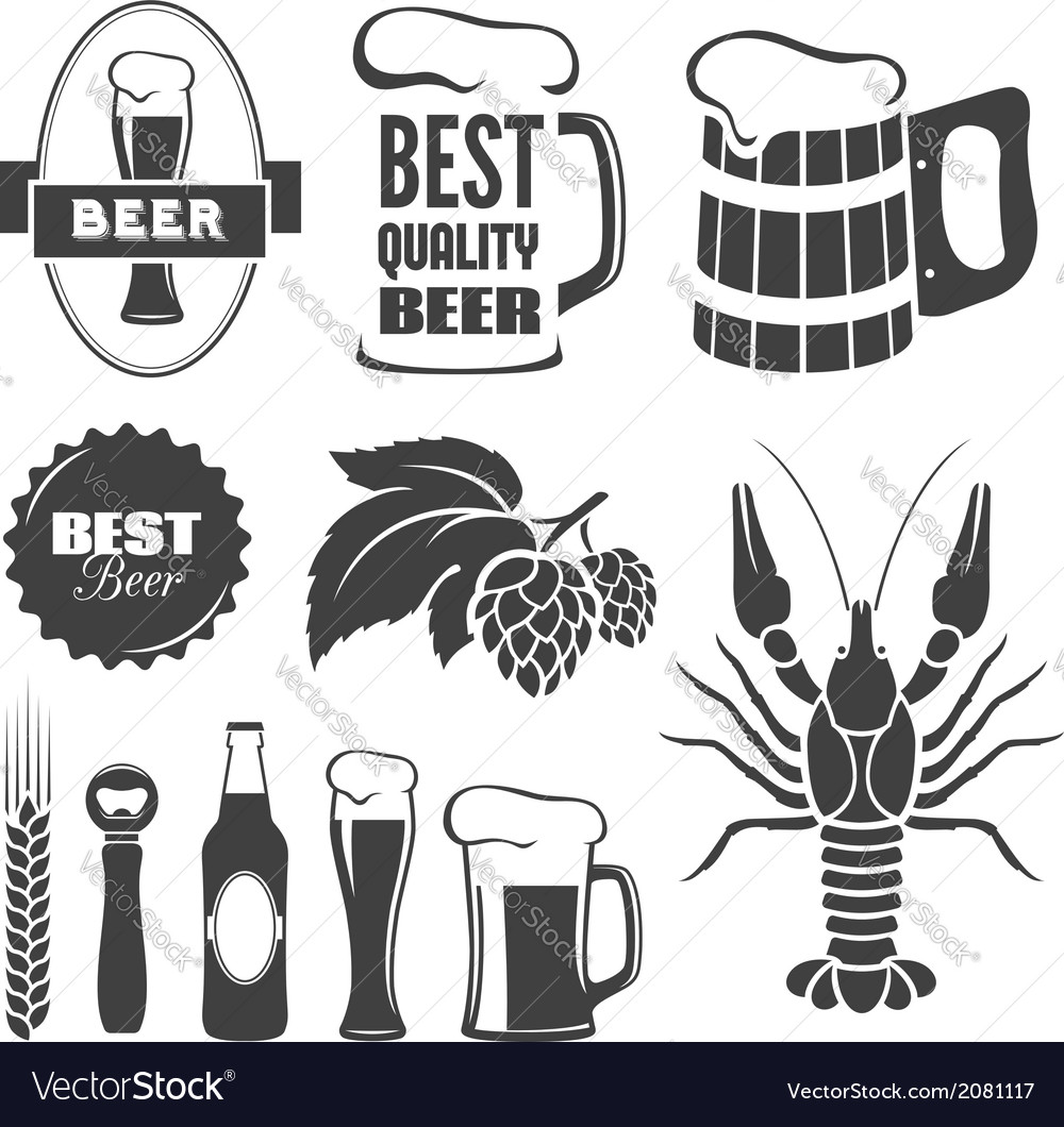 Beer symbols vector | Price: 1 Credit (USD $1)