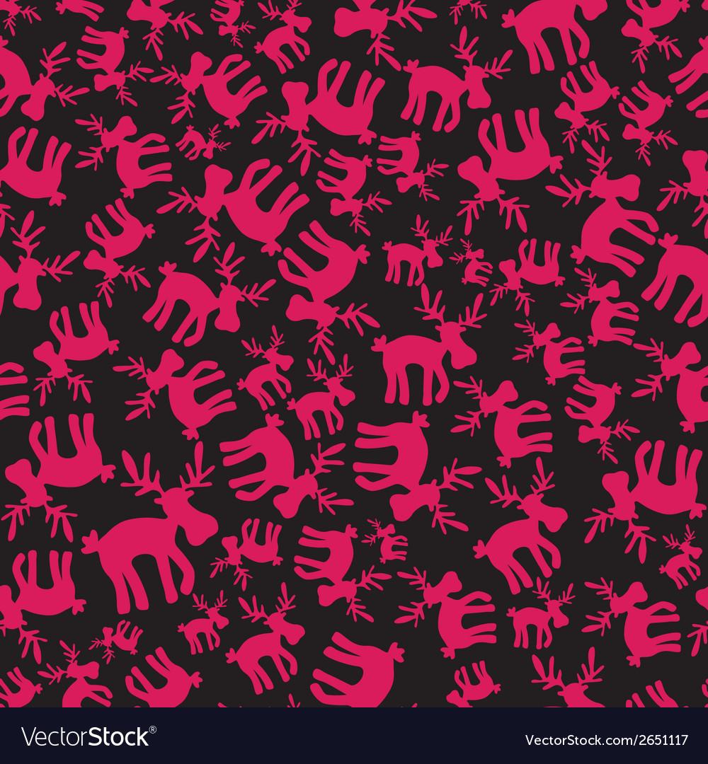Christmas reindeer pink pattern eps10 vector | Price: 1 Credit (USD $1)